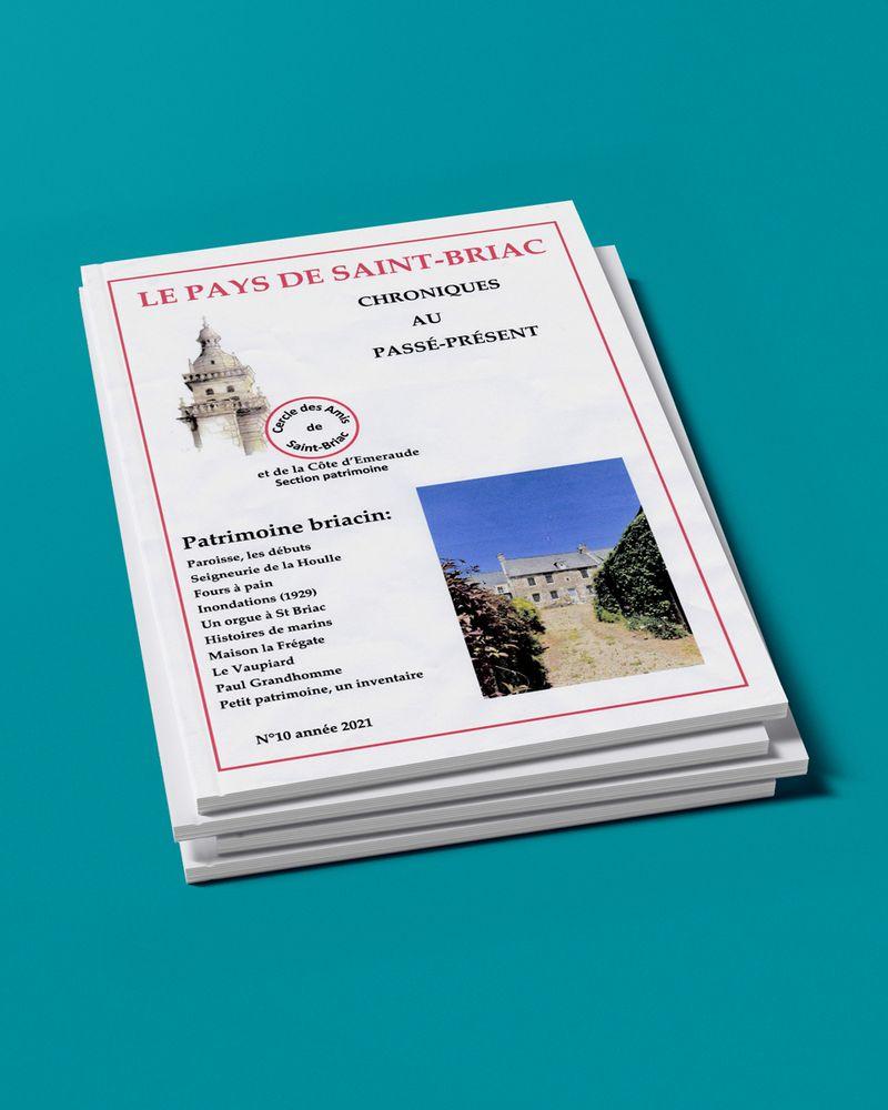 """Couverture """"Le Pays de Saint-Briac"""" n°10, 2021"""